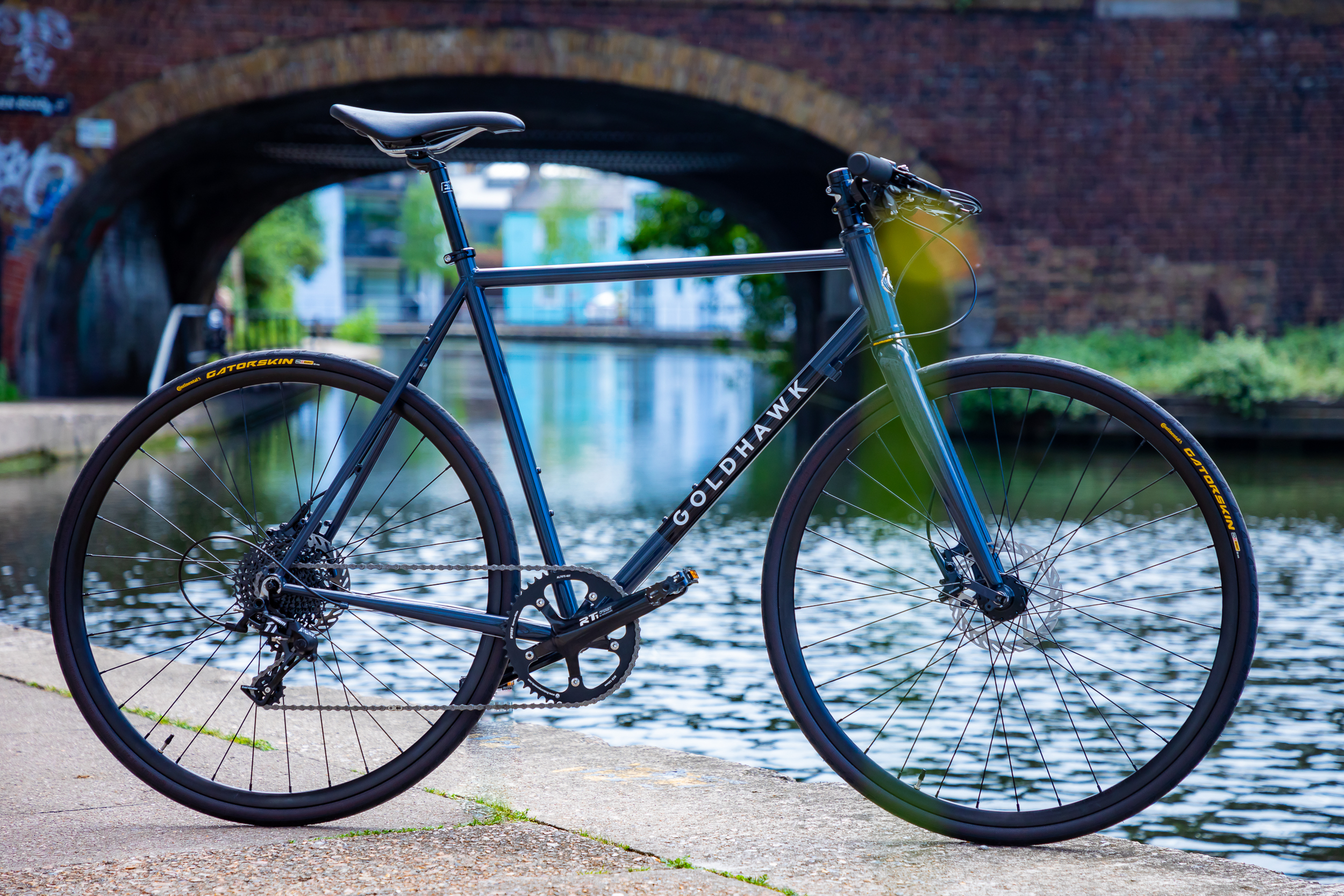 Hand made Reynolds steel frame with carbon fork. Hand built in Camden, London
